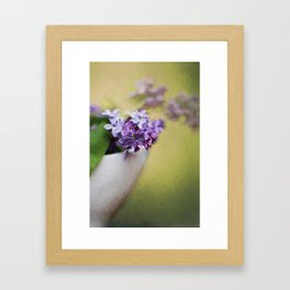 A Touch of Lilacs Framed Art Print