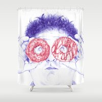 hero Shower Curtains featuring Hero by Bomburo