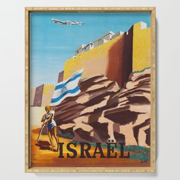 Israel - Vintage Air France Travel Poster Serving Tray