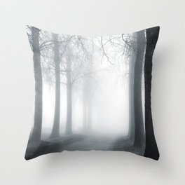 Mist and Mystery Throw Pillow