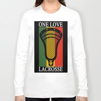 lacrosse Long Sleeve T-shirts featuring Lacrosse OneLove by YouGotThat.com