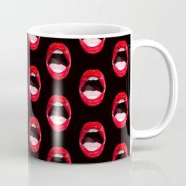 Red Lips (Black) Coffee Mug
