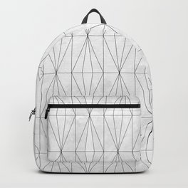 White Rhombus on White Marble Backpack