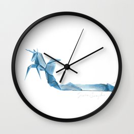 Origami Unicorn Wall Clock