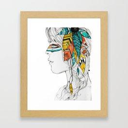 Native Woman Framed Art Print