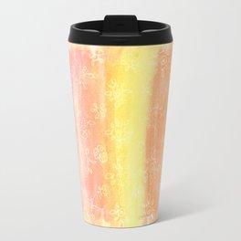 Sunset Floral Doodles Travel Mug