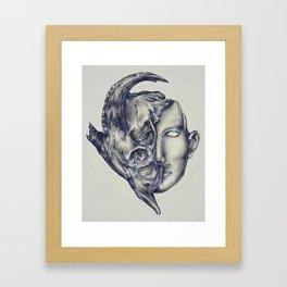 Mask of Evil Framed Art Print