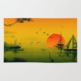 Japanese Sunset Rug