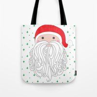 santa Tote Bags featuring Santa by Doucette Designs
