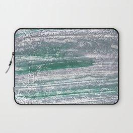 Slate gray green nebulous watercolor paper Laptop Sleeve
