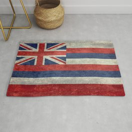 The State flag of Hawaii - Vintage version Rug
