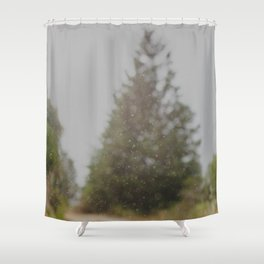 Rainy Day #quote #rain #typography #blurred #abstract Shower Curtain