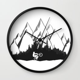 MTB Mountains Forest Wall Clock