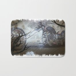 Ghostly Chopper Bath Mat