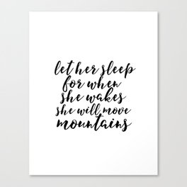 Baby Girl Print Girly BABY GIRL GIFT Kid You'll move mountains Gift For Her Nursery Wall Art Canvas Print