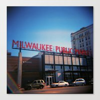milwaukee Canvas Prints featuring Milwaukee by Eric Wilcox / let it unwind