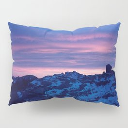 Romantic Sunset in the Snowy Mountains/Alps Pillow Sham