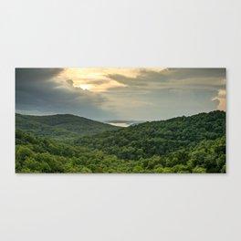 Eagles Nest and Table Rock Lake Panorama - Missouri Ozark Mountains Canvas Print