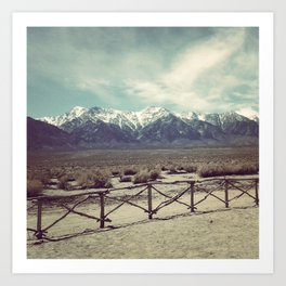 Eastern Sierras from Manzanar Art Print