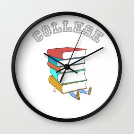 College Textbooks and Student Loans Wall Clock