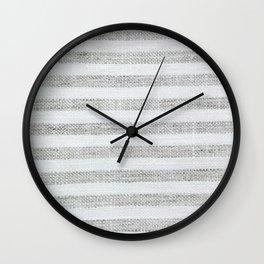 Vintage Farmhouse Grain sack Wall Clock