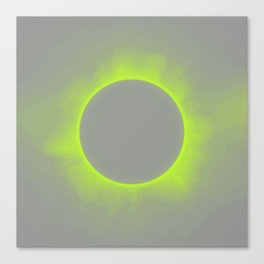Solar Eclipse in Auroa Colors Canvas Print