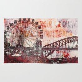 Sydney Luna Park Mixed Media Art Rug