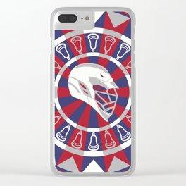 Lacrosse Shakey Dartboard Clear iPhone Case