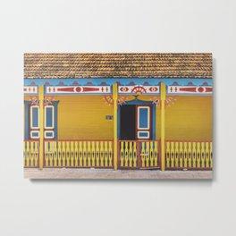 Isla Mujere colofull house Metal Print