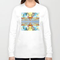 sci fi Long Sleeve T-shirts featuring Sci Fi Horizons by Phil Perkins