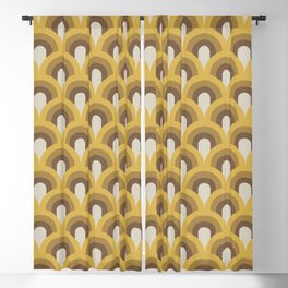 Retro Rainbows Blackout Curtain