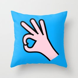 Right Person Throw Pillow