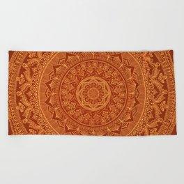 Mandala Spice Beach Towel