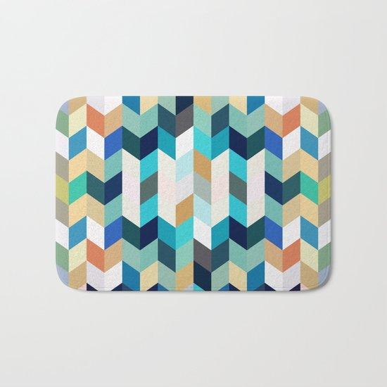 Colorful Geometric Background Bath Mat