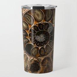 Earth treasures - Fossil in brown tones Travel Mug