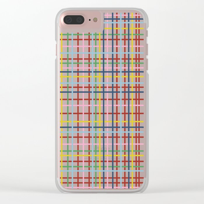 Rainbow Weave Clear iPhone Case