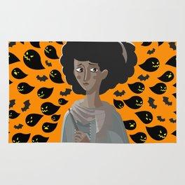 sad african woman Rug