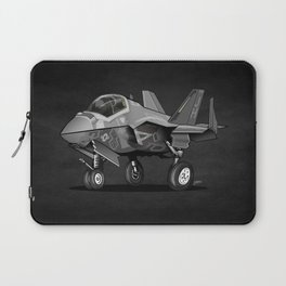 F35 Fighter Jet Airplane - F-35C Lightning II Joint Strike Fighter Cartoon Laptop Sleeve