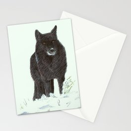Wolf's snow Stationery Cards