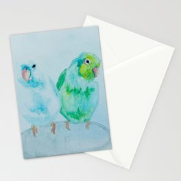 Koolaid and Smokey the Parrotlets Stationery Cards