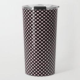 Black and Bridal Blush Polka Dots Travel Mug