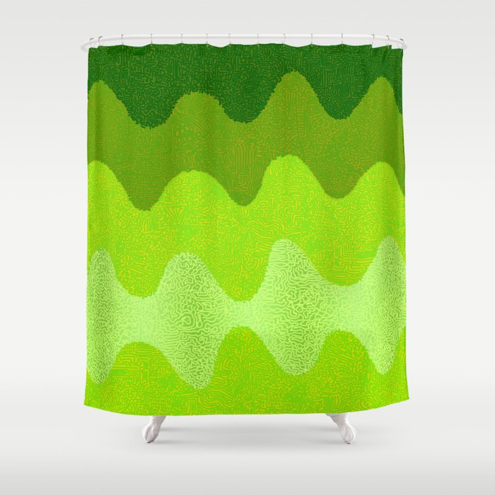 Under The Influence Marimekko Curves Eat Your Greens Shower Curtain By Studioboomboom
