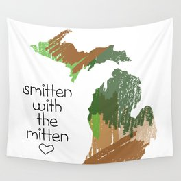Smitten with the mitten Wall Tapestry