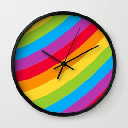St Patrick's Day Lucky Rainbow Pattern Wall Clock