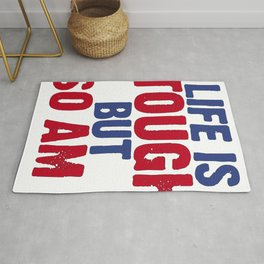 Life Is Tough But So Am I Concussion Awareness Day Rug