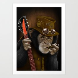 Rockers of the apes Art Print