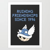 video game Art Prints featuring Video Game Enemies by The Nine Store