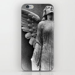 Female Angel Looking Upwards #faith #Christmas iPhone Skin