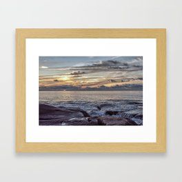 Sunset at Flat rocks Gloucester MA 7-21-18 Framed Art Print
