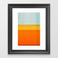 Film Burn II Framed Art Print